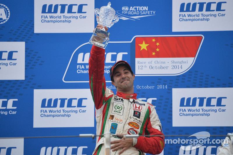 Ganador de la carrrera 2 Mehdi Bennani, Honda Civic WTCC, Proteam Racing