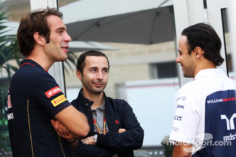 (L to R): Jean-Eric Vergne, Scuderia Toro Rosso with Nicolas Todt, Driver Manager and Felipe Massa,