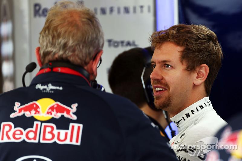 Sebastian Vettel, Red Bull Racing con  Dr Helmut Marko, de Red Bull Motorsport