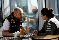 (Soldan Sağa): Gerard Lopez, Lotus F1 Takım Patronu ve Monisha Kaltenborn, Sauber Takım Müdürü