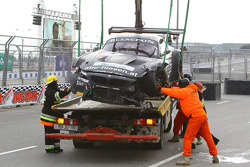 #76 BMW Sports Trophy Team Schubert BMW Z4: Jens Klingmann, Dominik Baumann com problemas