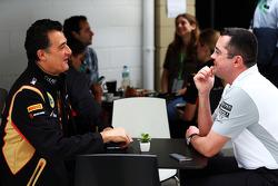 (Da sinistra a destra): Federico Gastaldi, Lotus F1 Team Vice Team Principal con Eric Boullier, McLaren Direttore Gara