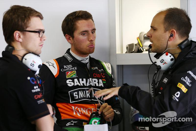 Daniel Juncadella, Sahara Force India F1 Team Test and Reserve Driver, with Gianpiero Lambiase, Saha