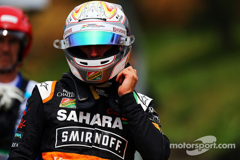 Daniel Juncadella, Sahara Force India F1 Test and Reserve Driver crashed in the first practice session
