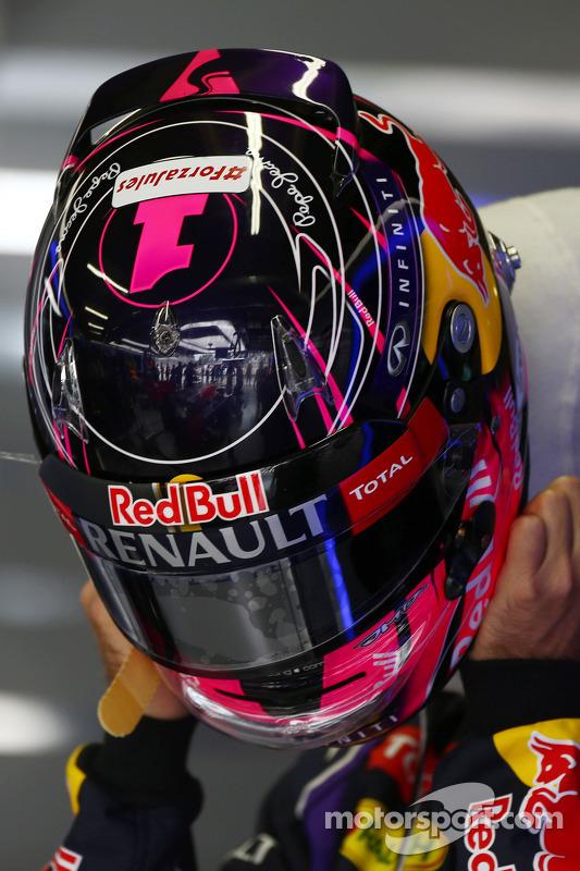 O capacete de Sebastian Vettel, Red Bull Racing