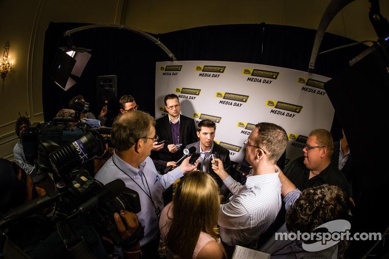 Şampiyona yarışmacıları Basın konferansı: Denny Hamlin, Joe Gibbs Racing Toyota