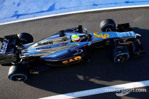 November McLaren promotionele test