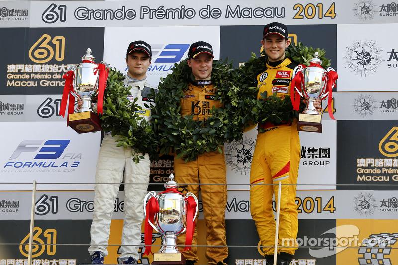 2014: 1. Felix Rosenqvist, 2. Lucas Auer, 3. Nick Cassidy