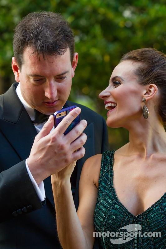 Kyle Busch com a esposa Samantha