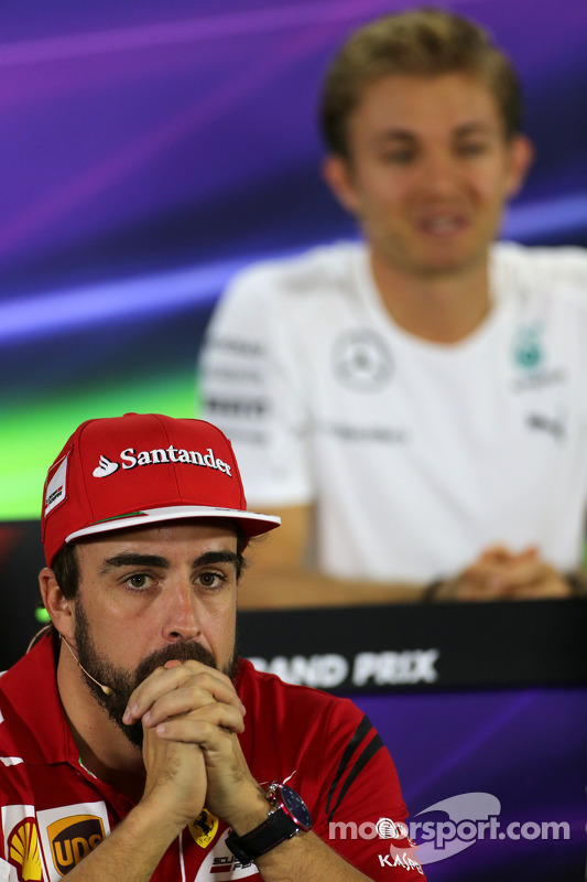 Fernando Alonso, Scuderia Ferrari at the FIA Press Conference