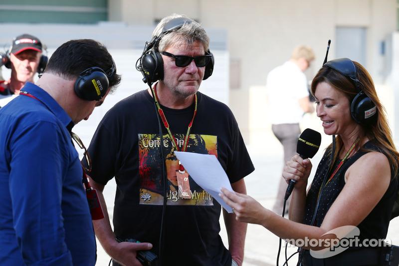 Suzi Perry, BBC F1 Presentatrice e Jean Alesi