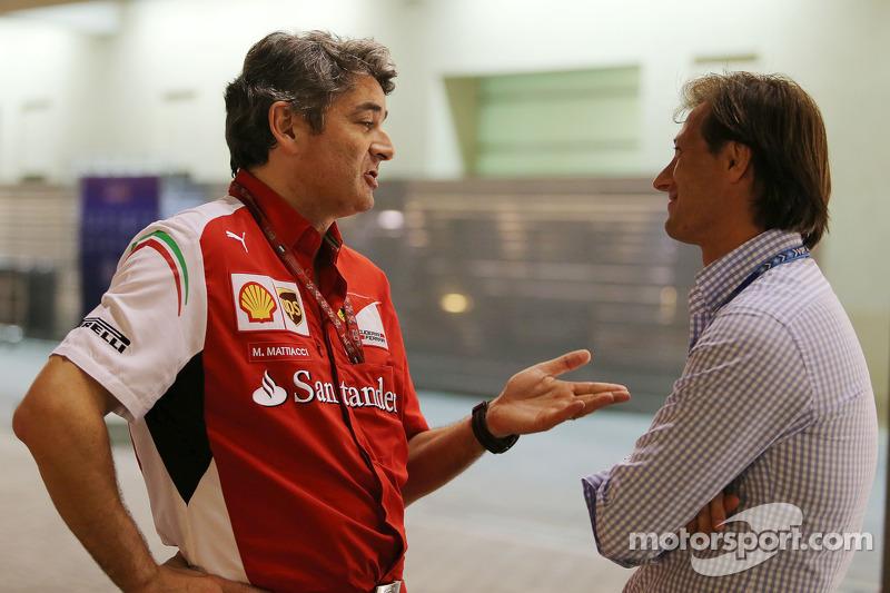 (L to R): Marco Mattiacci, Ferrari Team Principal with Dany Bahar
