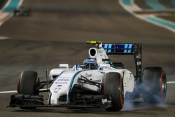 Valtteri Bottas, Williams FW36 blocca le ruote in frenata