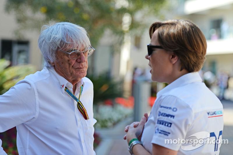 (I a D): Bernie Ecclestone con Claire Williams, Directora Ejecutiva del equipo Williams