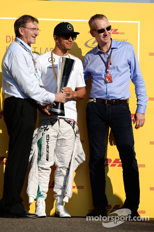 Lewis Hamilton, Mercedes AMG F1 bekommt den DHL-Fastest-Lap-Award