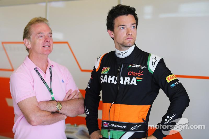 Jolyon Palmer, Sahara Force India F1 Team e Jonathan Palmer