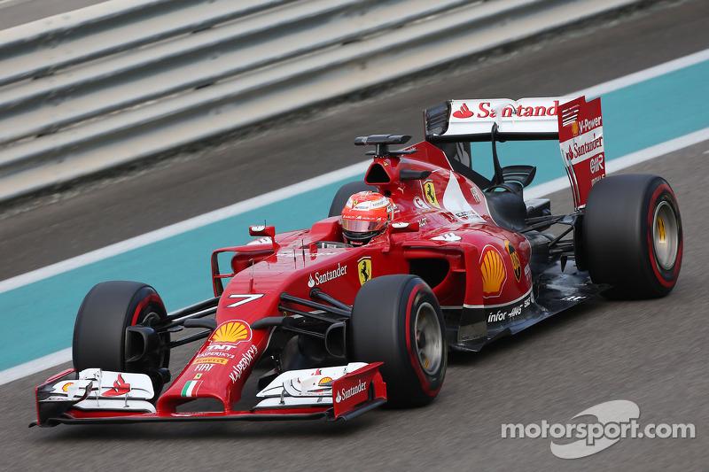 Kimi Raikkonen, Ferrari F14-T at Abu Dhabi November testing