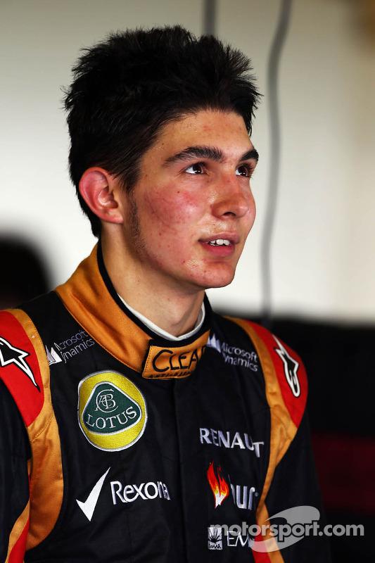 Esteban Ocon, piloto de pruebas Lotus F1 Team