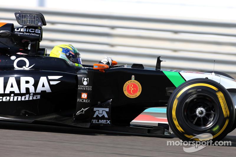 Spike Goddard, Sahara Force India F1 VJM07, prova la Info Wing