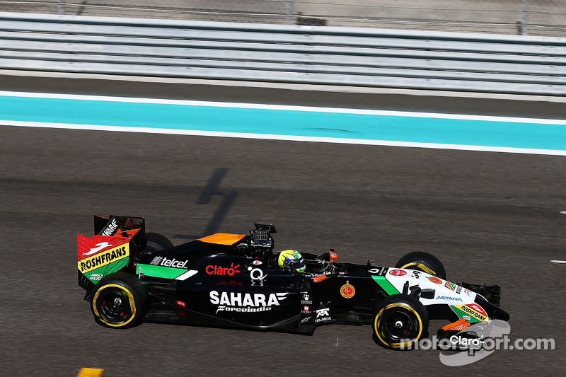 Spike Goddard, Sahara Force India F1 VJM07, collaudatore, prova la Info Wing
