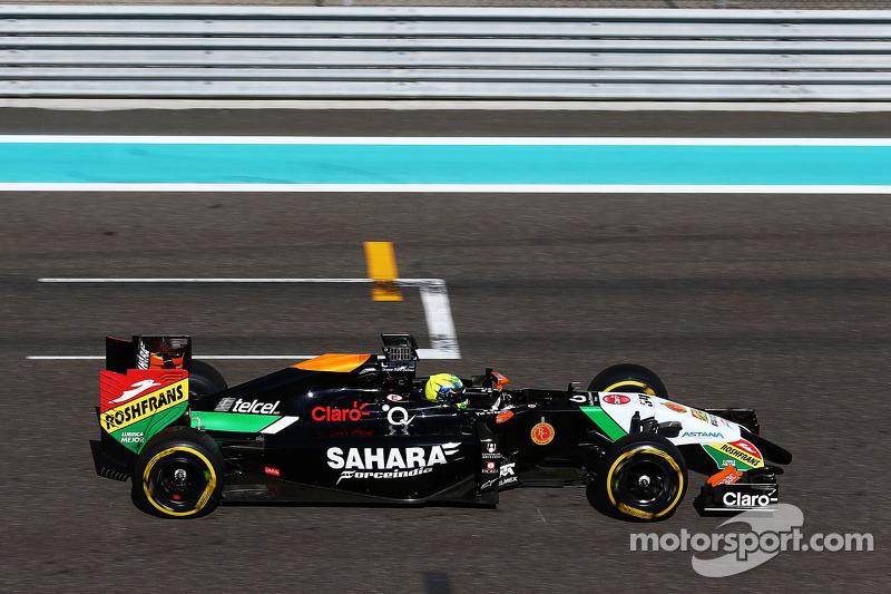 Spike Goddard, Sahara Force India F1 VJM07, collaudatore, prova la Info Wing
