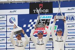 Podium: race winners Neel Jani, Romain Dumas, Marc Lieb