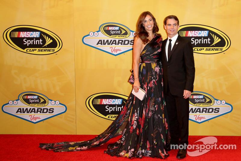 Jeff Gordon e sua moglie Ingrid Vandebosch