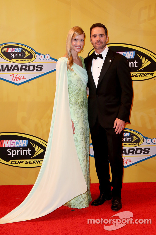 Jimmie Johnson e his wife Chandra