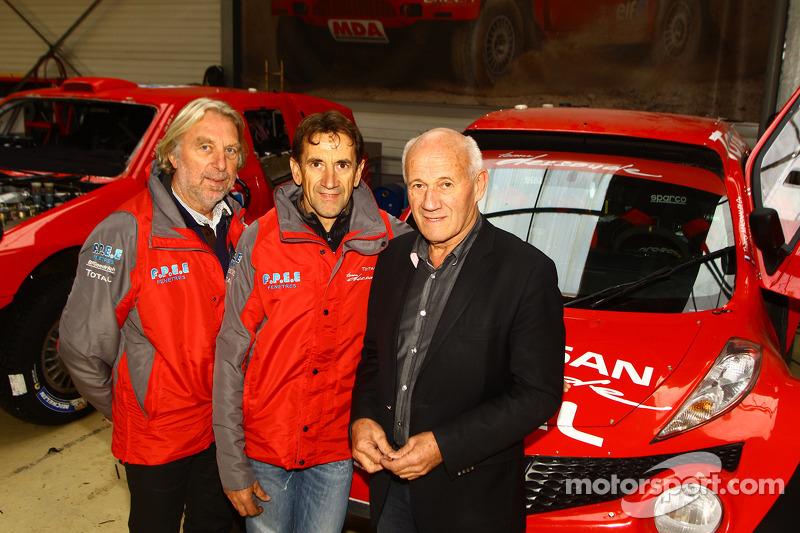 Thierry Magnaldi e il proprietario del team André Dessoude