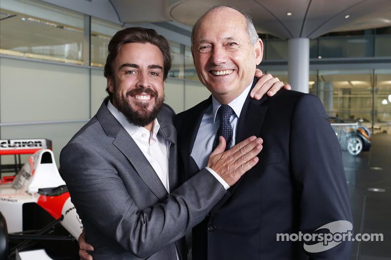 Fernando Alonso ve Ron Dennis, McLaren CEO'su ve Başkanı