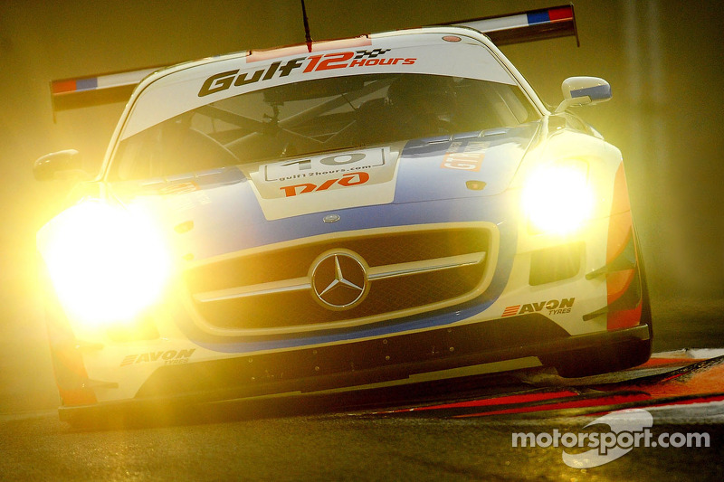 #10 GT Russian Mercedes SLS AMG GT3: Alexey Vasiliev, Marko Asmer, Karim Al Azhari