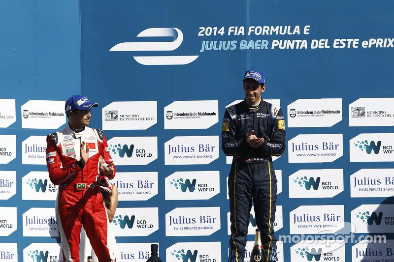 O primeiro pódio veio logo no terceiro ePrix, o de Punta del Este, com a segunda colocação, atrás de Sebastien Buemi.