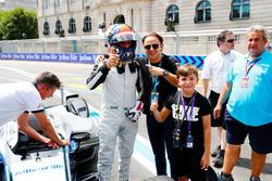 Emerson Fittipaldi, ancien Champion du monde de Formule 1 et vainqueur des 500 Miles d'Indianapolis, avec Felipe Massa