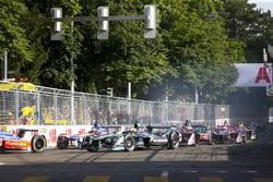 Felix Rosenqvist, Mahindra Racing, Nelson Piquet Jr., Jaguar Racing, Nick Heidfeld, Mahindra Racing