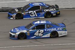 Kyle Larson, Chip Ganassi Racing, Chevrolet Camaro Credit One Bank and Ryan Newman, Richard Childress Racing, Chevrolet Camaro Okuma