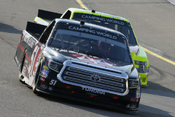 Harrison Burton, Kyle Busch Motorsports, Toyota Tundra Morton Buildings and Matt Crafton, ThorSport Racing, Ford F-150 Jack Links/Menards