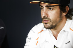 Fernando Alonso, McLaren, en conférence de presse