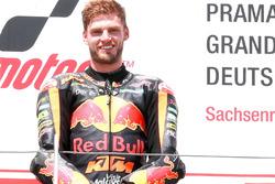 Podium : le vainqueur Brad Binder, Red Bull KTM Ajo Moto2