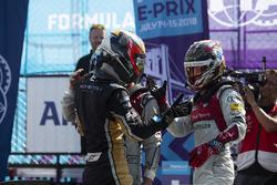 Il vincitore Jean-Eric Vergne, Techeetah, Lucas di Grassi, Audi Sport ABT Schaeffler, Daniel Abt, Audi Sport ABT Schaeffler