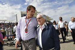 Bobby Epstein, US GP Promoter and Bernie Ecclestone, CEO Formula One Group