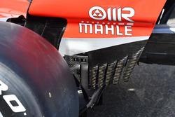 Ferrari SF71H detalle del ala trasera