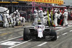 Sergey Sirotkin, Williams FW41, makes a
