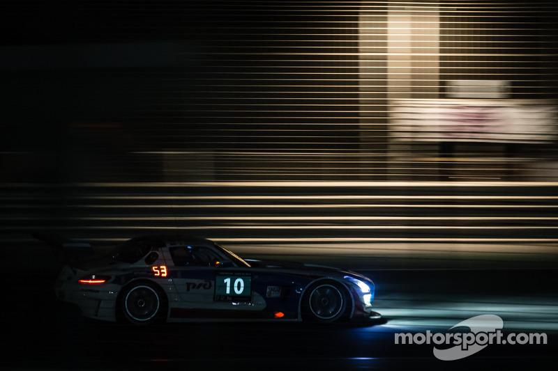 #10 GTRussian Mercedes SLS AMG GT3: Alexey Vasilyev, Marko Asmer, Karim Al Azhari, Kevin Korjus