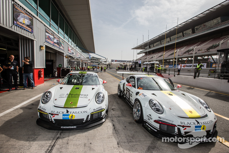 #25 Black Falcon Porsche 991 Cup e #26 Black Falcon Porsche 991 Cup
