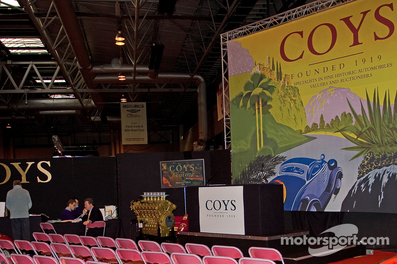 Coys-Auktion: Autoaustellung