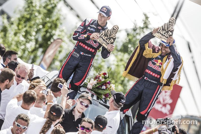 Car category подіум: переможці Нассер Аль-Аттія, Матьє Бомел