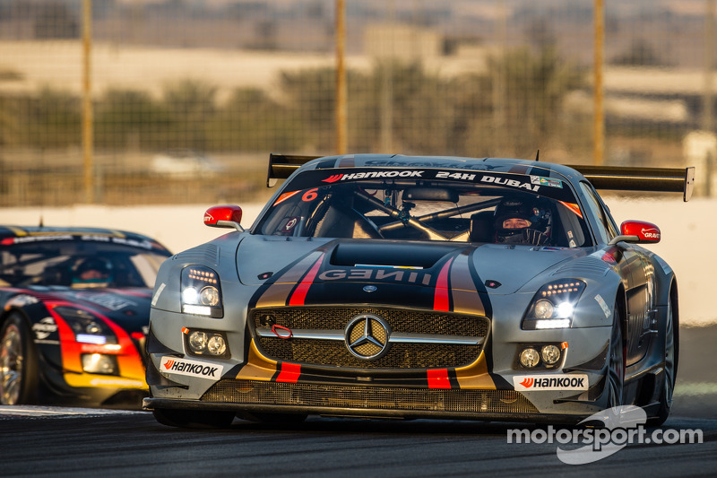 #6 Gravity Racing International Mercedes SLS AMG GT3: Vincent Radermecker, Eric Lux, Gérard Lopez, L