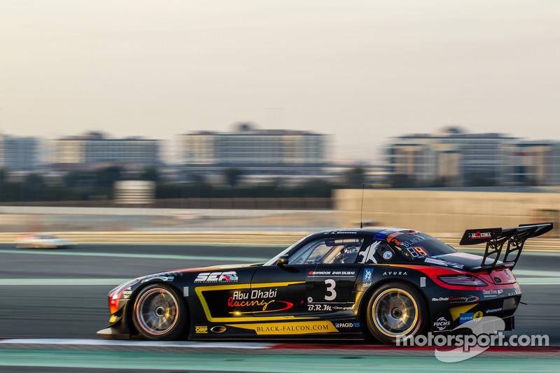 #3 Abu Dhabi Racing Black Falcon Mercedes SLS AMG GT3: Khaled Al Qubaisi, Jeroen Bleekemolen, Bernd Schneider, Andreas Simonsen