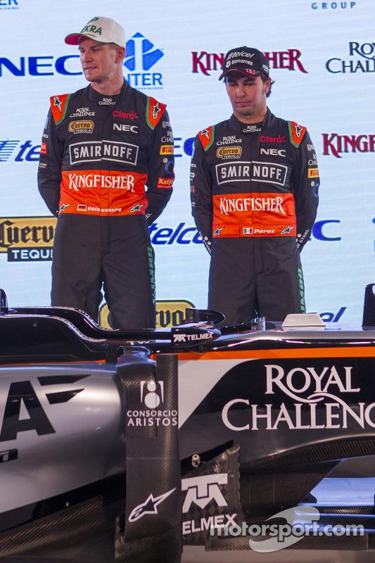 Sergio Perez e Nico Hulkenberg, Sahara Force India F1
