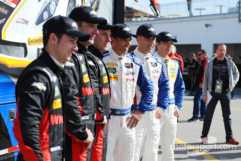 Pilotos del Action Express Racing, Dane Cameron, Max Papis, Eric Curran, Christian Fittipaldi, Joao